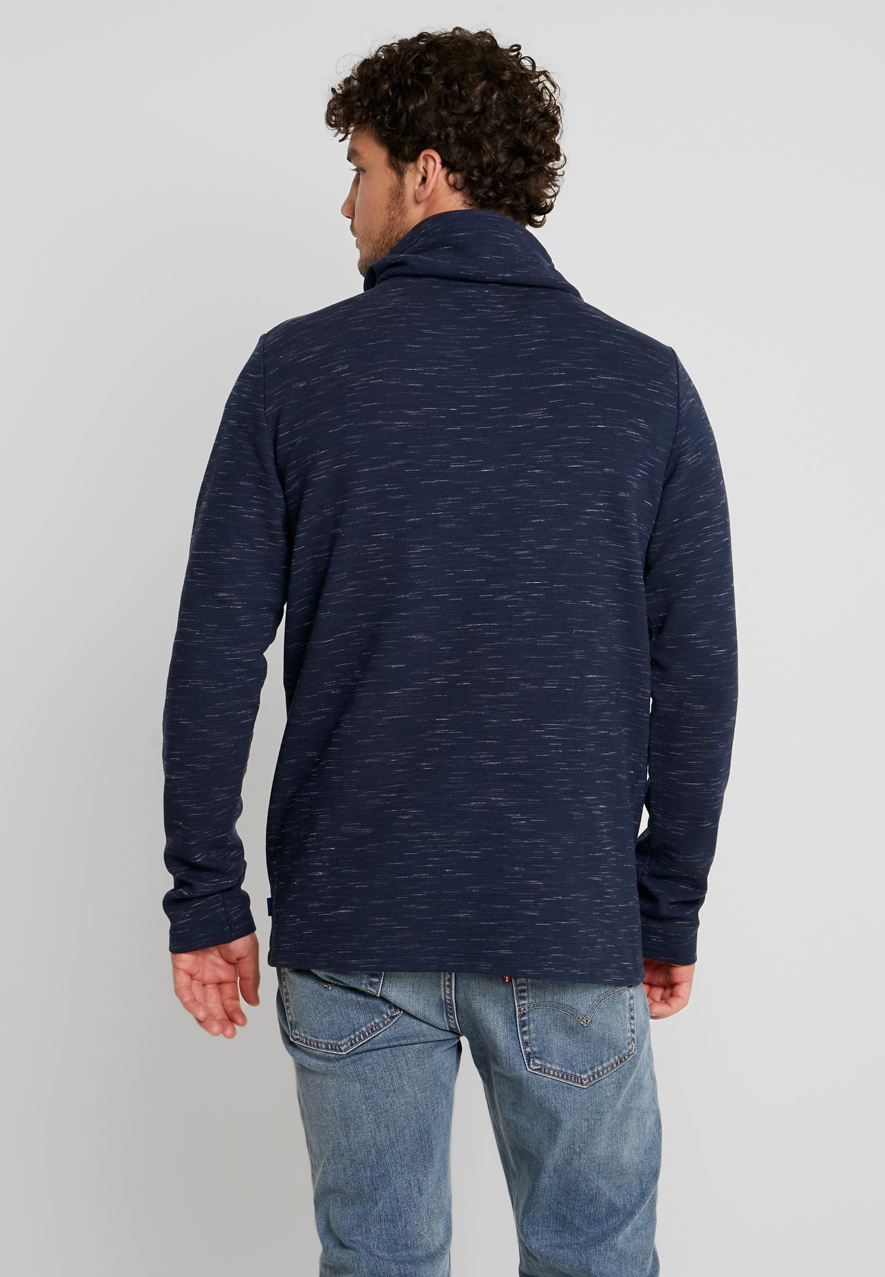 TeeT Longues Edc Neck Manches À Navy Funnel Esprit By shirt Ygvb6If7y