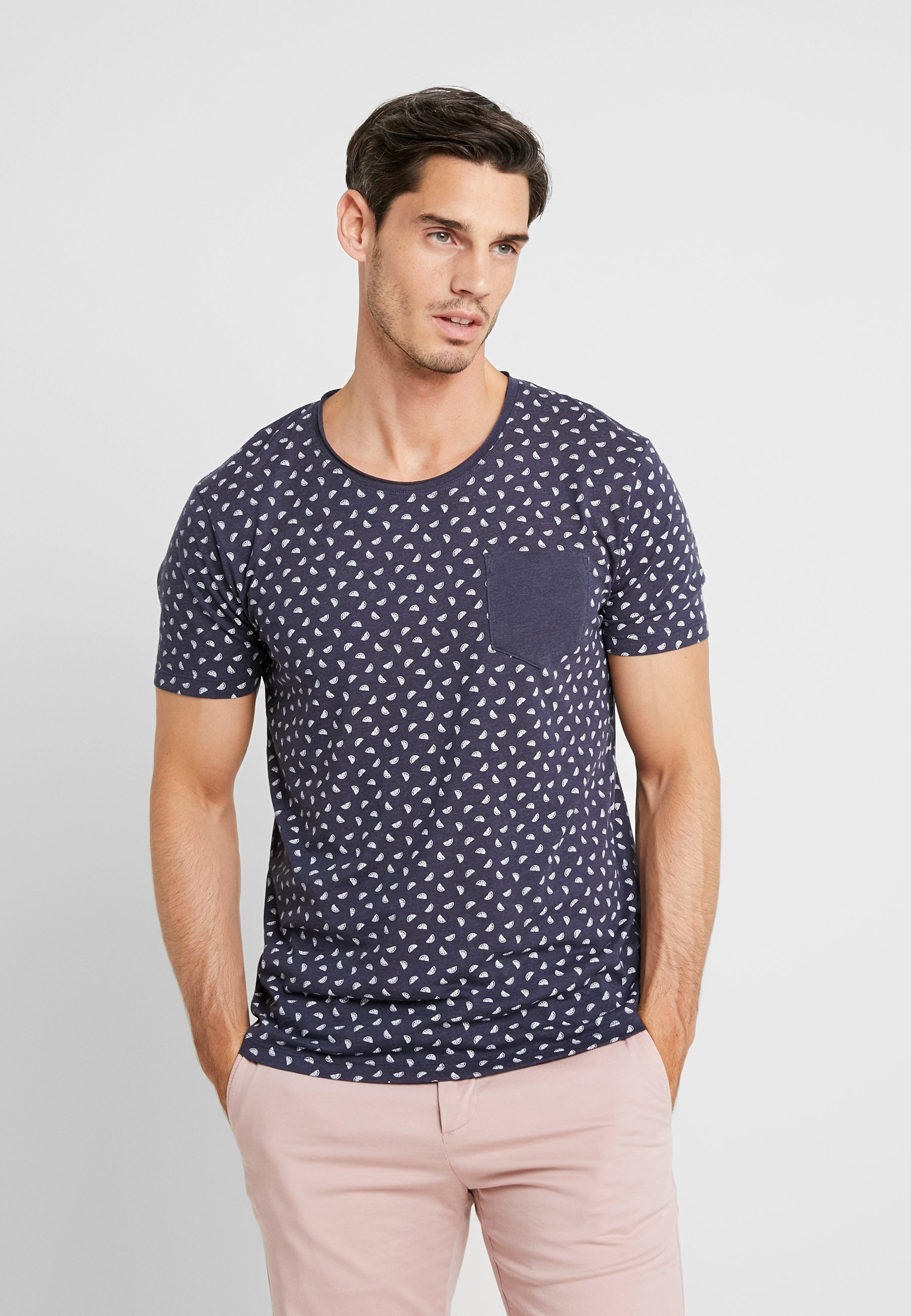 Navy By shirt Edc Aop Eos TeeT Imprimé Esprit iOkZuTPX