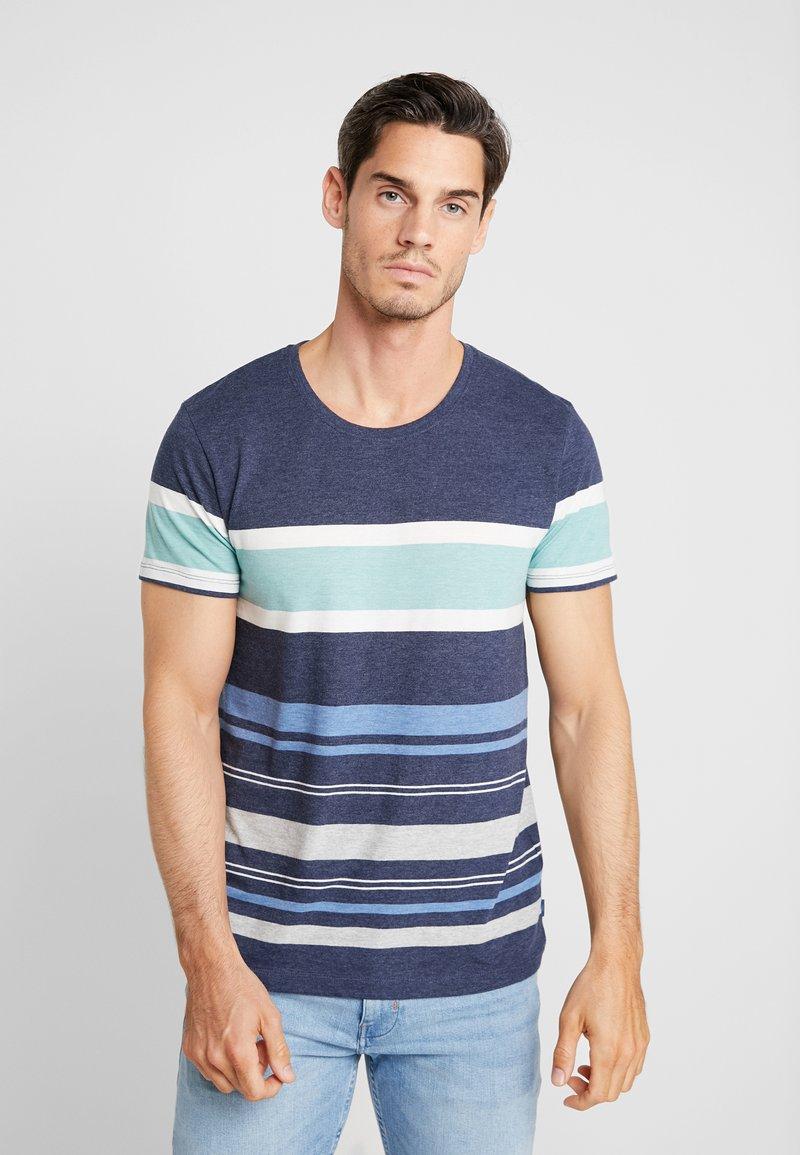 edc by Esprit - MEL STRIPE TEE - T-Shirt print - navy
