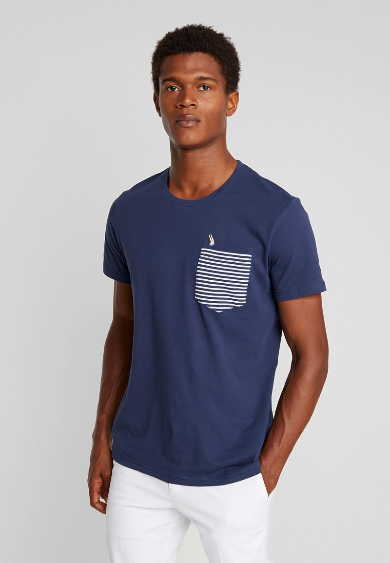 edc by Esprit - CHEST TEE - Printtipaita - navy