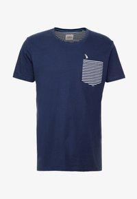 edc by Esprit - CHEST TEE - Printtipaita - navy - 4