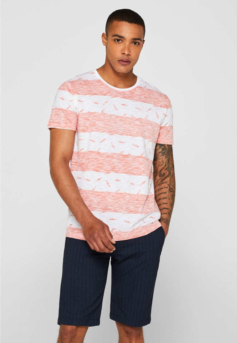 edc by Esprit - TEE - T-shirt imprimé - coral orange