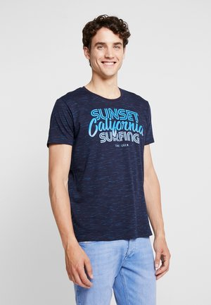 DEGRADEE TEE - Camiseta estampada - navy