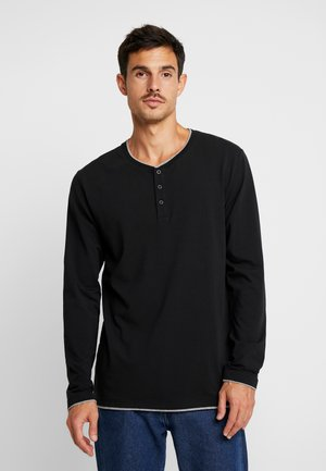 HENLY - T-shirt à manches longues - black