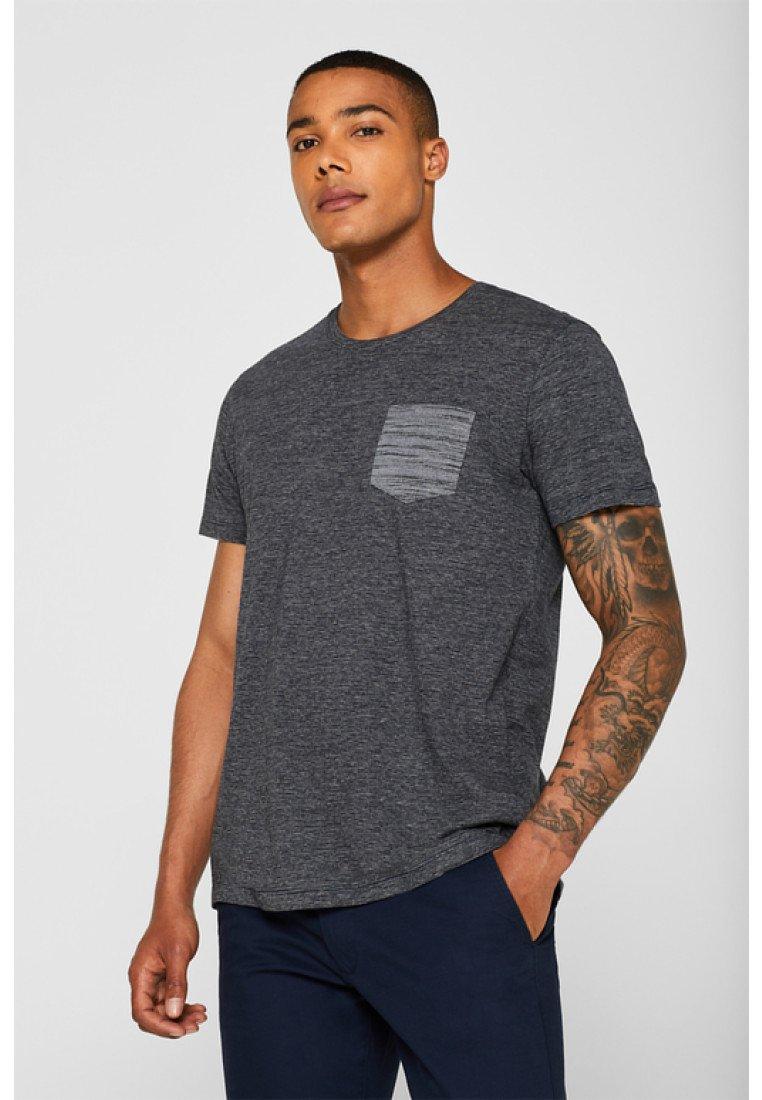 edc by Esprit - MIT BRUSTTASCHE - T-shirt basique - navy