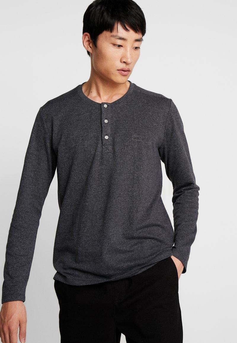 edc by Esprit - HENLEY - Langarmshirt - black
