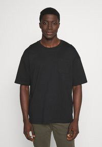 edc by Esprit - BOXY  - T-shirt basic - black - 0