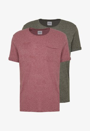 GRIND 2 PACK - T-shirt - bas - red
