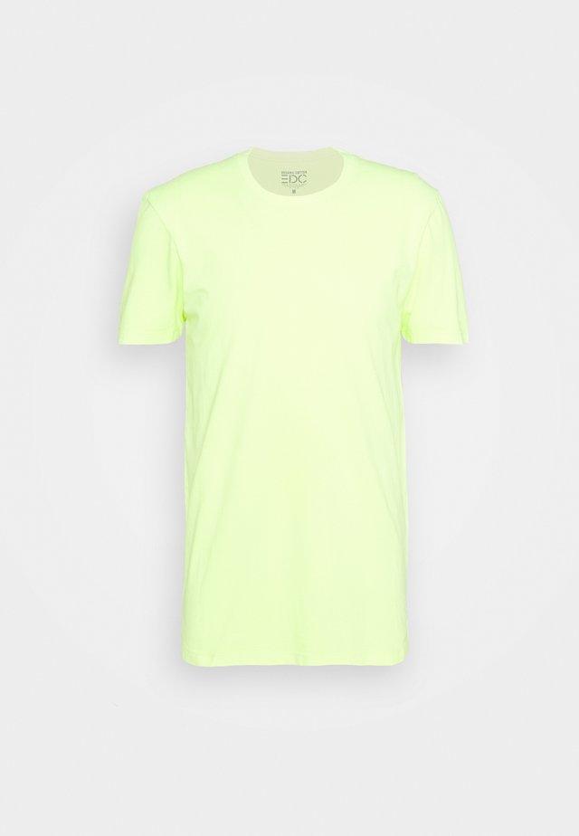 NEON DYE - Camiseta básica - bright yellow