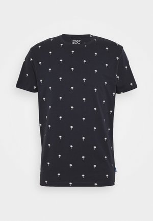 PALM  - Print T-shirt - navy