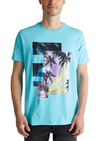 edc by Esprit - Print T-shirt - light blue - 0