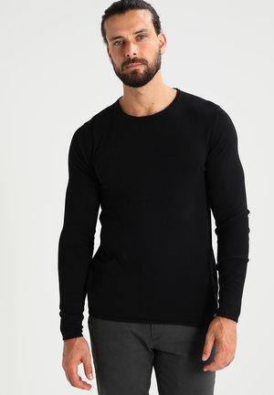 BASIC - Strickpullover - black