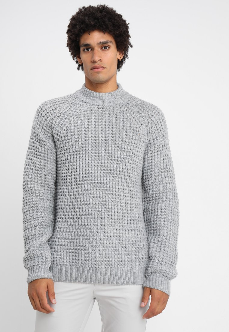 edc by Esprit - CHUNKY TURTLE - Strickpullover - light grey