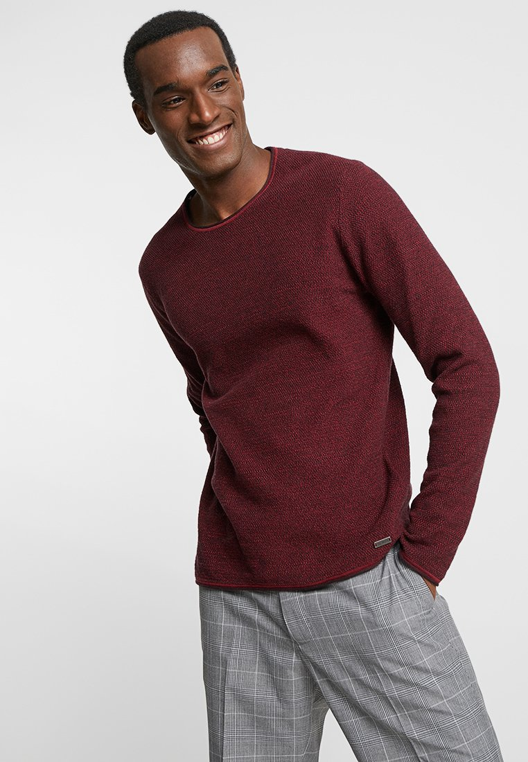 edc by Esprit - LONG SLEEVE - Strickpullover - red
