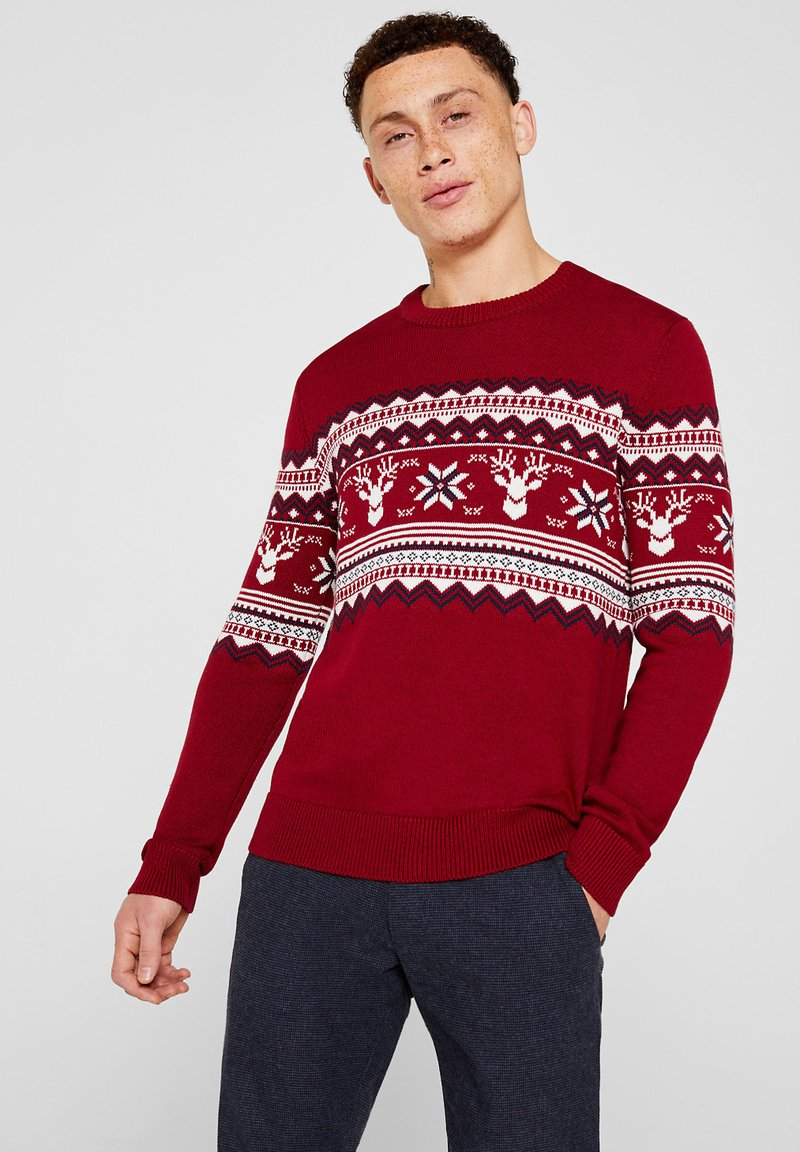 edc by Esprit - CHRISTMAS - Pullover - red