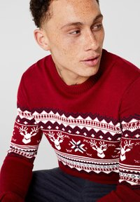 edc by Esprit - CHRISTMAS - Pullover - red - 3
