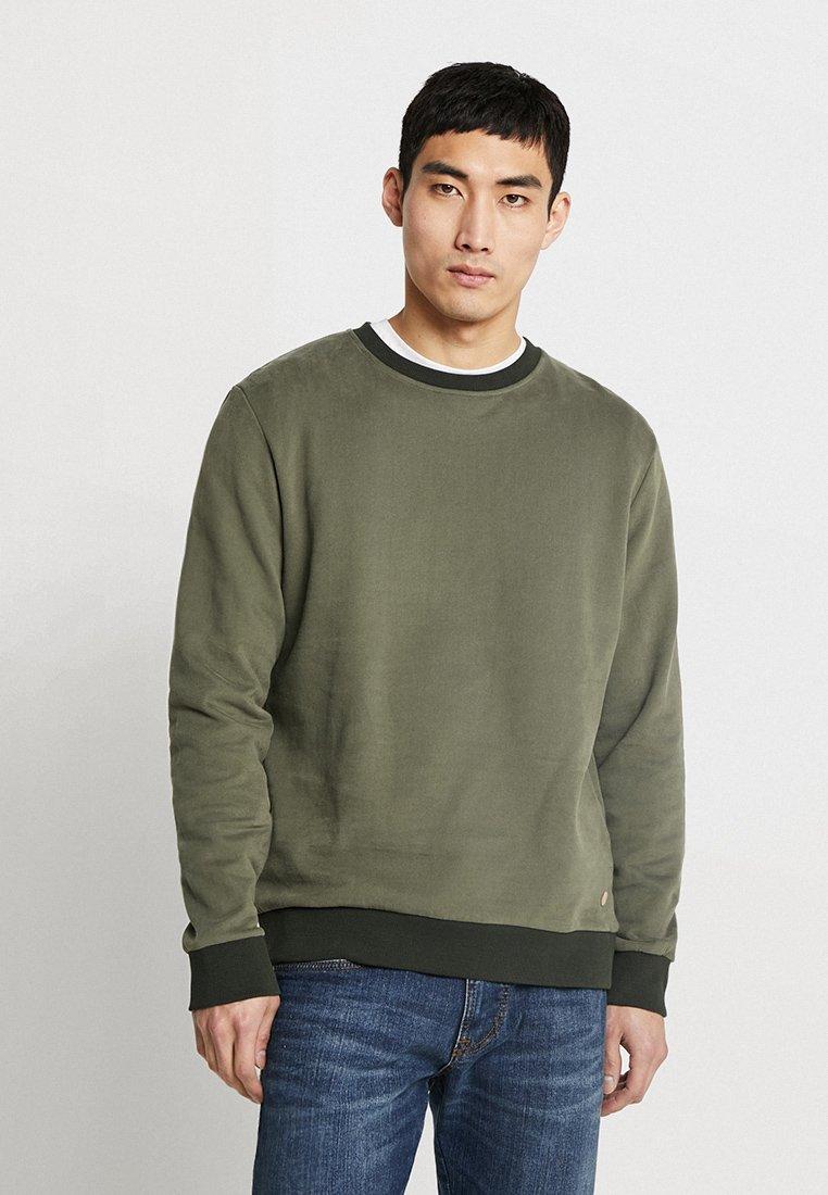 edc by Esprit - BEST BASIC C-NECK - Sweatshirt - khaki green