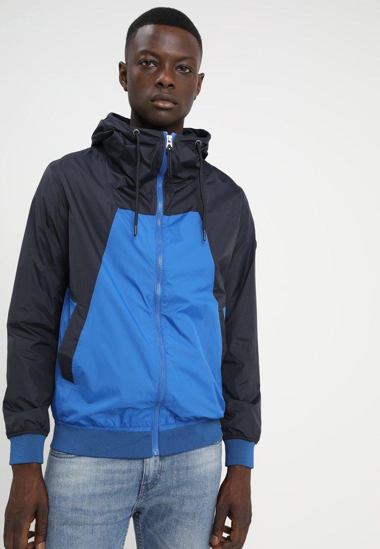 edc by Esprit - NYLON COL BLOCK - Summer jacket - navy