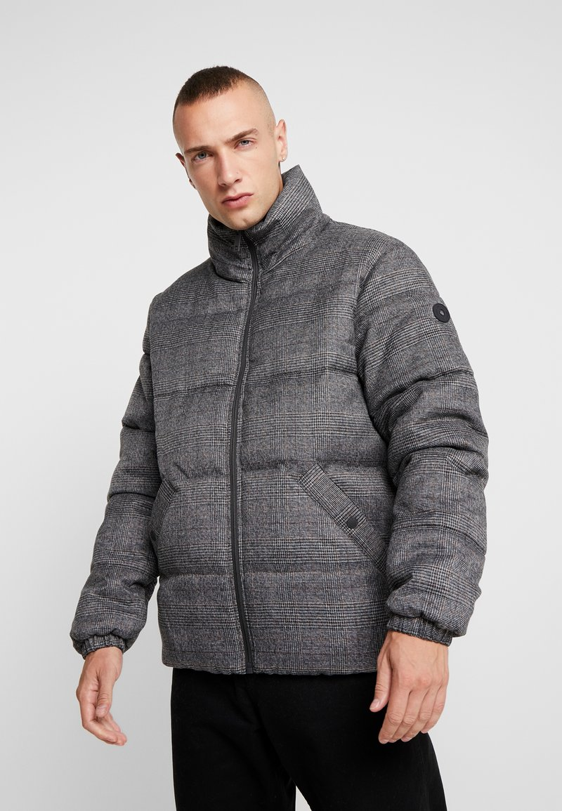 edc by Esprit - CHECKED - Winter jacket - dark grey
