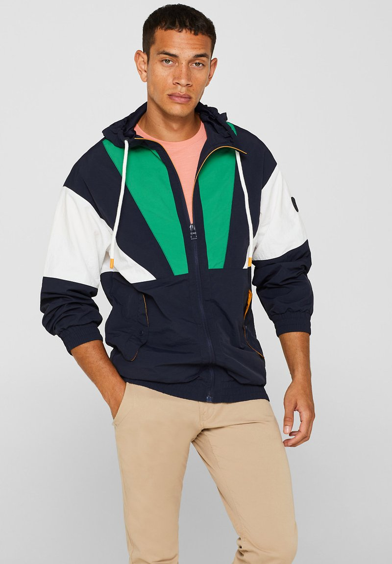 edc by Esprit - MIT KAPUZE - Training jacket - navy