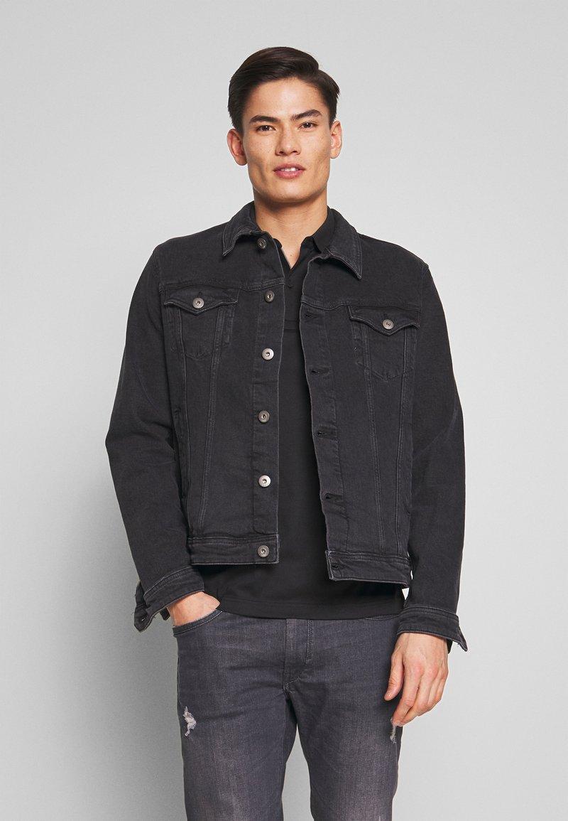 edc by Esprit - Denim jacket - black medium wash