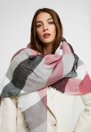 BRUSHCHECKSQUARE - Foulard - red