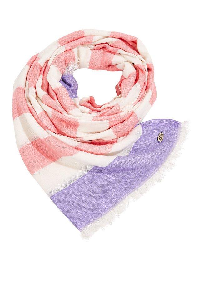WEB-SCHAL MIT BLOCKSTREIFEN - Sjaal - violet