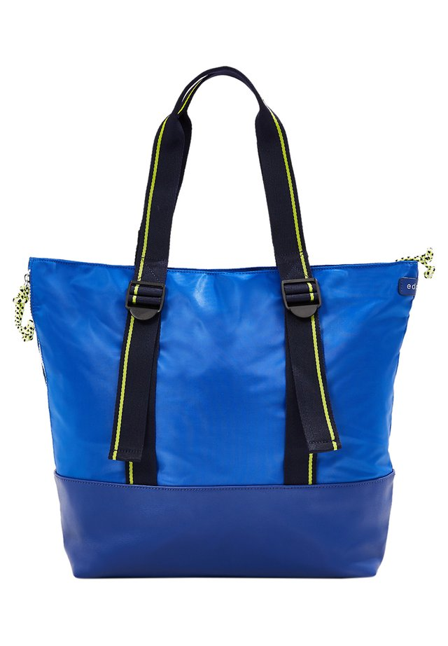 EDC BY ESPRIT DIESE SPORTIVE TOTE BAG ÜBERZEUGT DURCH MARKANTE Z - Shopper - bright blue
