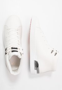 Ed Hardy - NEW BEAST TOP - Vysoké tenisky - white gunmetal - 1