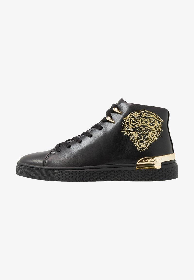 Ed Hardy - NEW BEAST TOP - Sneaker high - black/gold