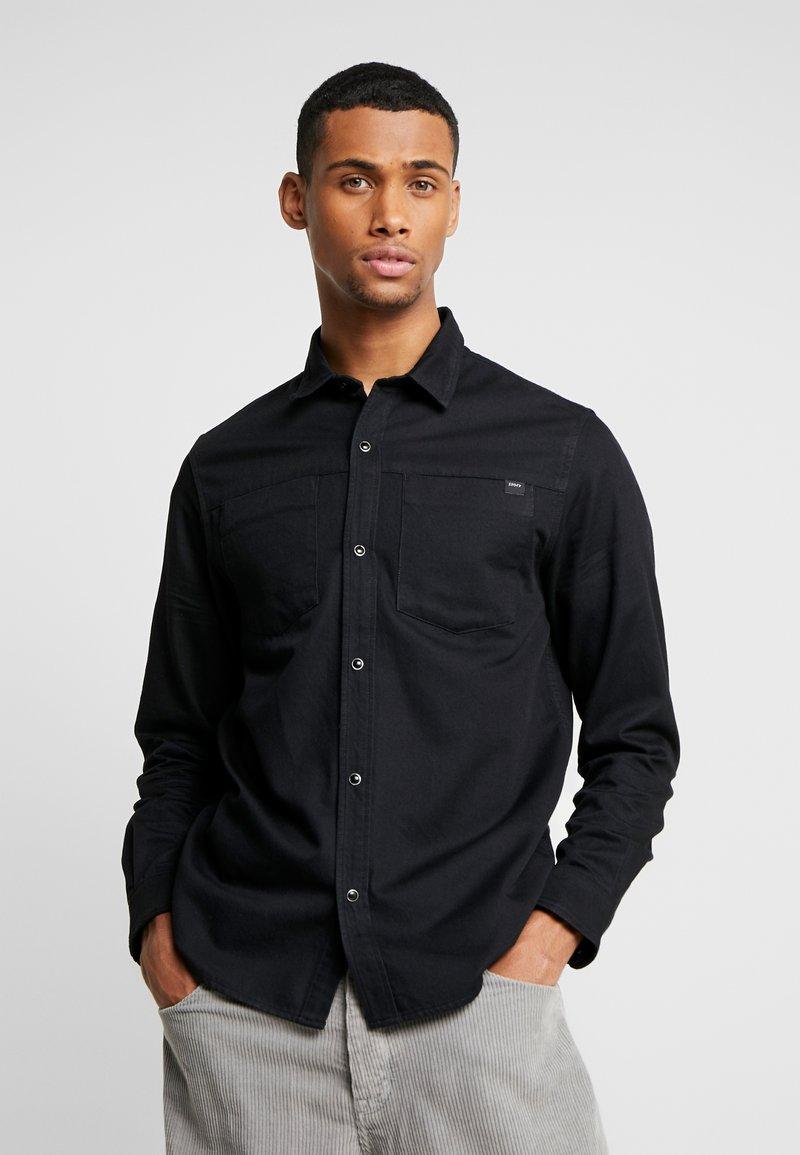 Edwin - FANNAR - Shirt - black denim