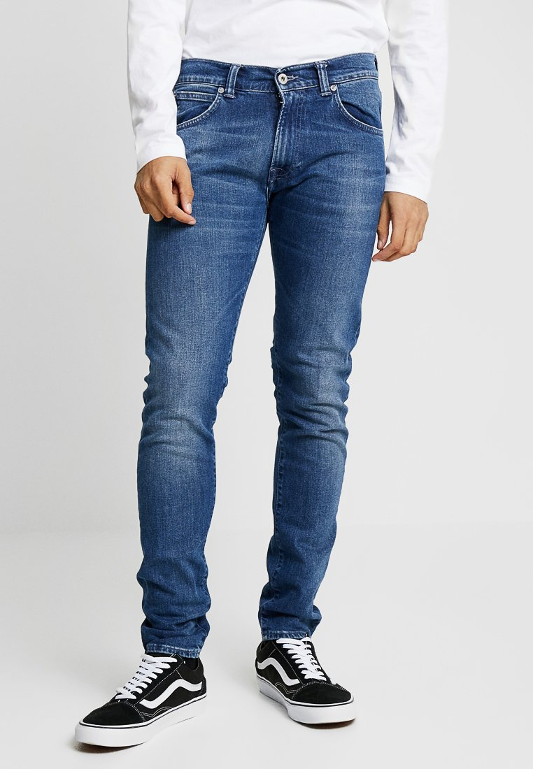 Edwin - DROP CROTCH - Jeans Slim Fit - birger wash braxton blue denim