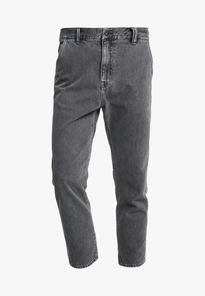 UNIVERSE PANT CROPPED - Jeans relaxed fit - heavy stone wash/kingston black
