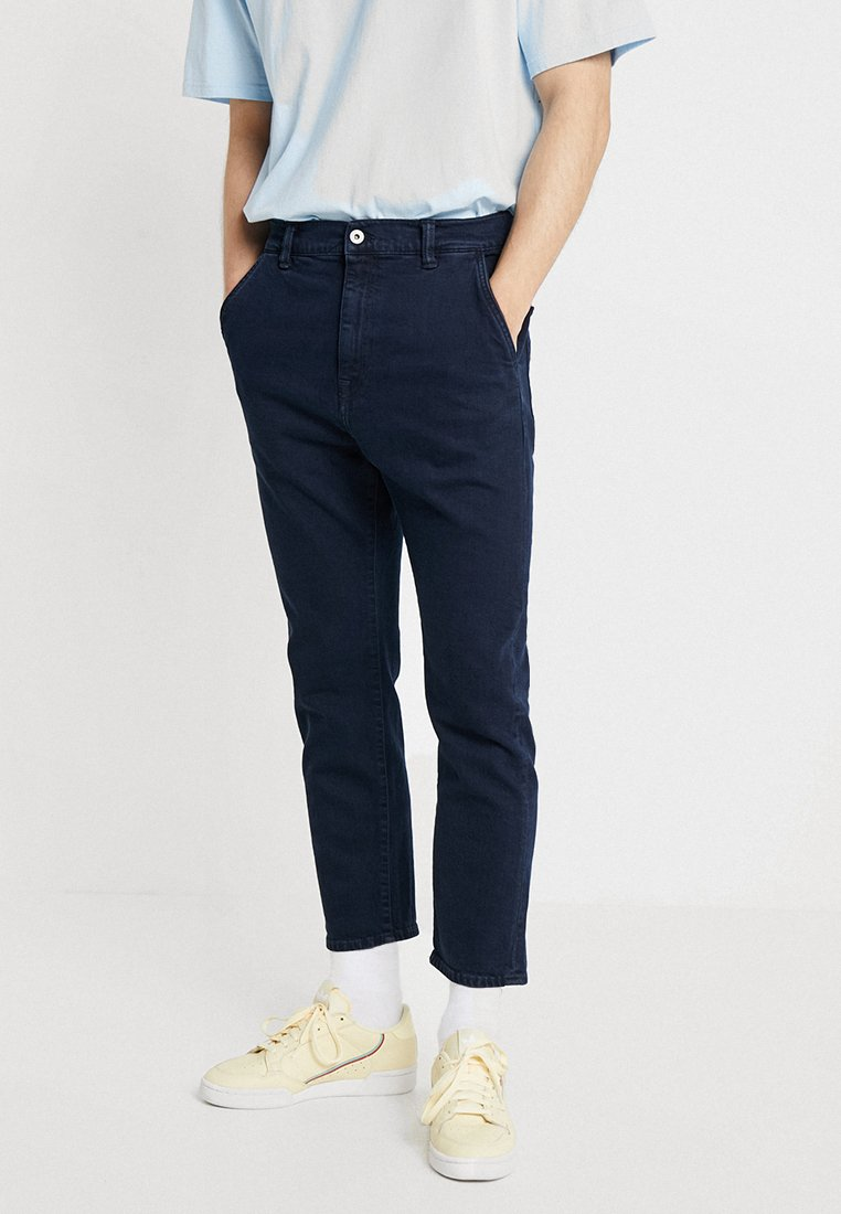 Edwin - UNIVERSE PANT CROPPED - Jeans Straight Leg - braxton blue denim