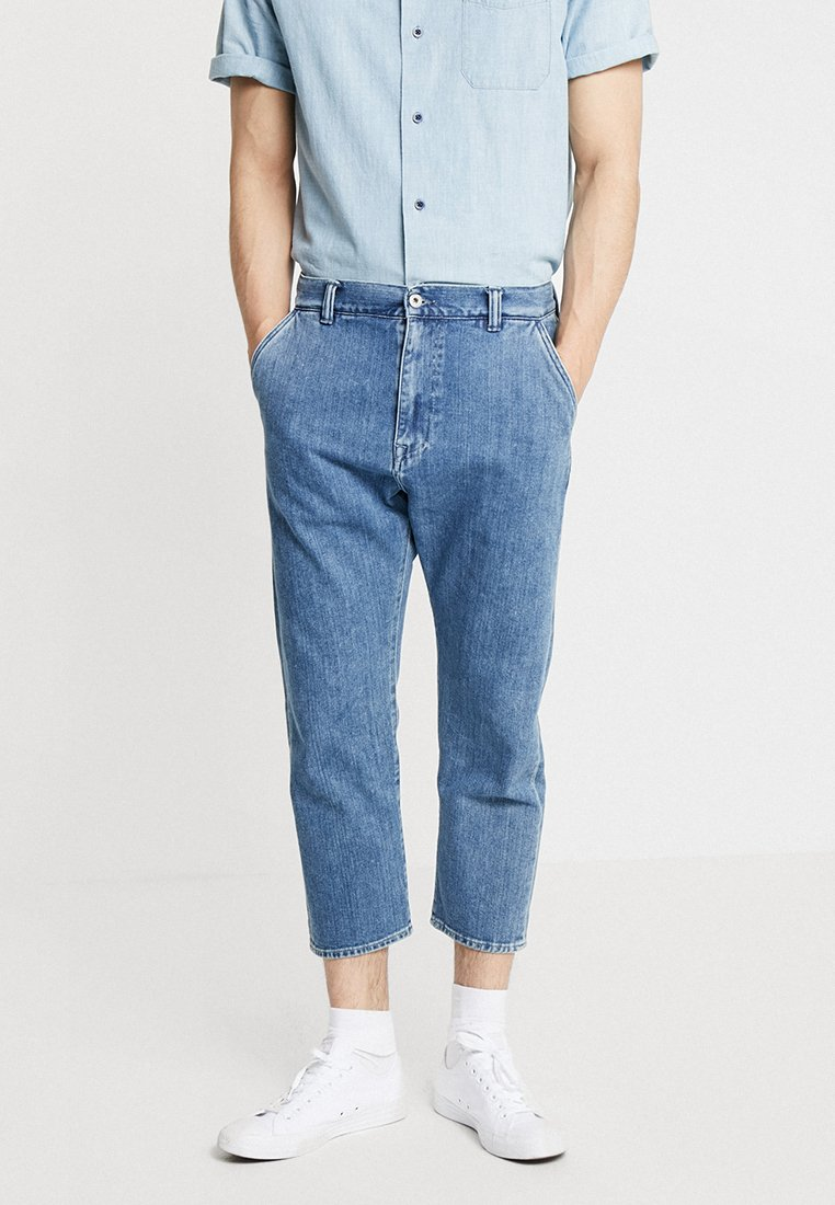 Edwin - UNIVERSE PANT CROPPED - Džíny Relaxed Fit - mid stone wash