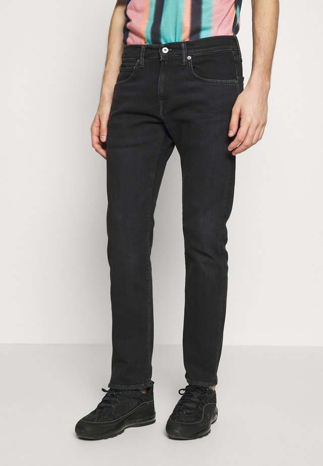 REGULAR TAPERED - Zúžené džíny - black denim