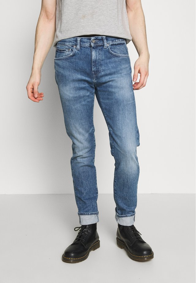 Džíny Slim Fit - tamiko wash yuuki blue denim