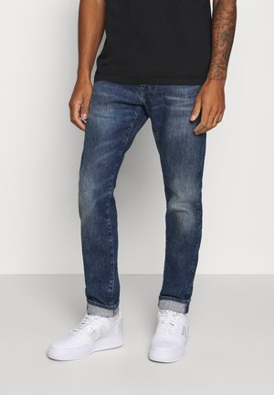 DROP CROTCH - Tapered-Farkut - takeo wash yuuki blue denim