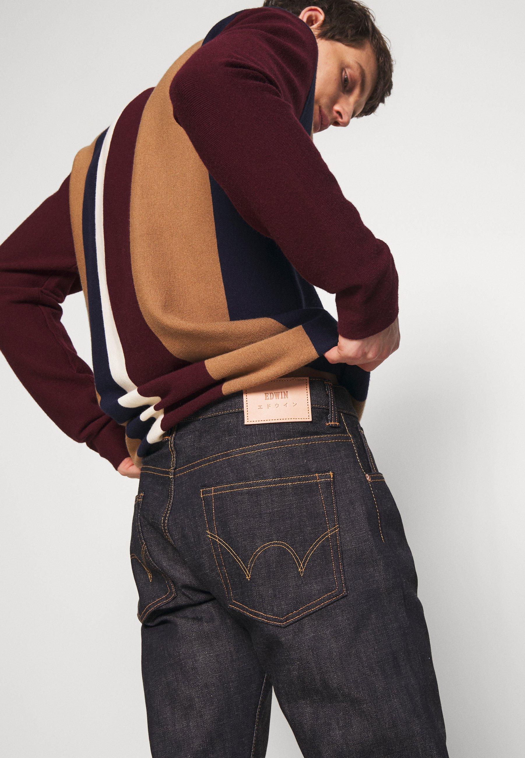 Edwin Jeans Straight Leg - Raw Statenihon Menpu / Dark Pure Indigo Rainbow Selvage