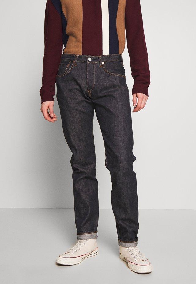 Jeans Straight Leg - raw statenihon menpu, dark pure indigo rainbow selvage, 13.5oz