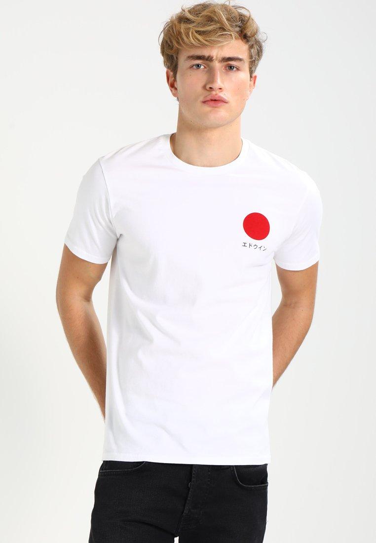 Edwin - JAPANESE SUN - T-shirt z nadrukiem - white
