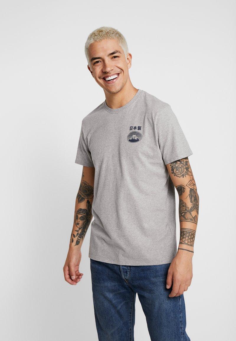 Edwin - FUJI SAN  - Print T-shirt - grey marl