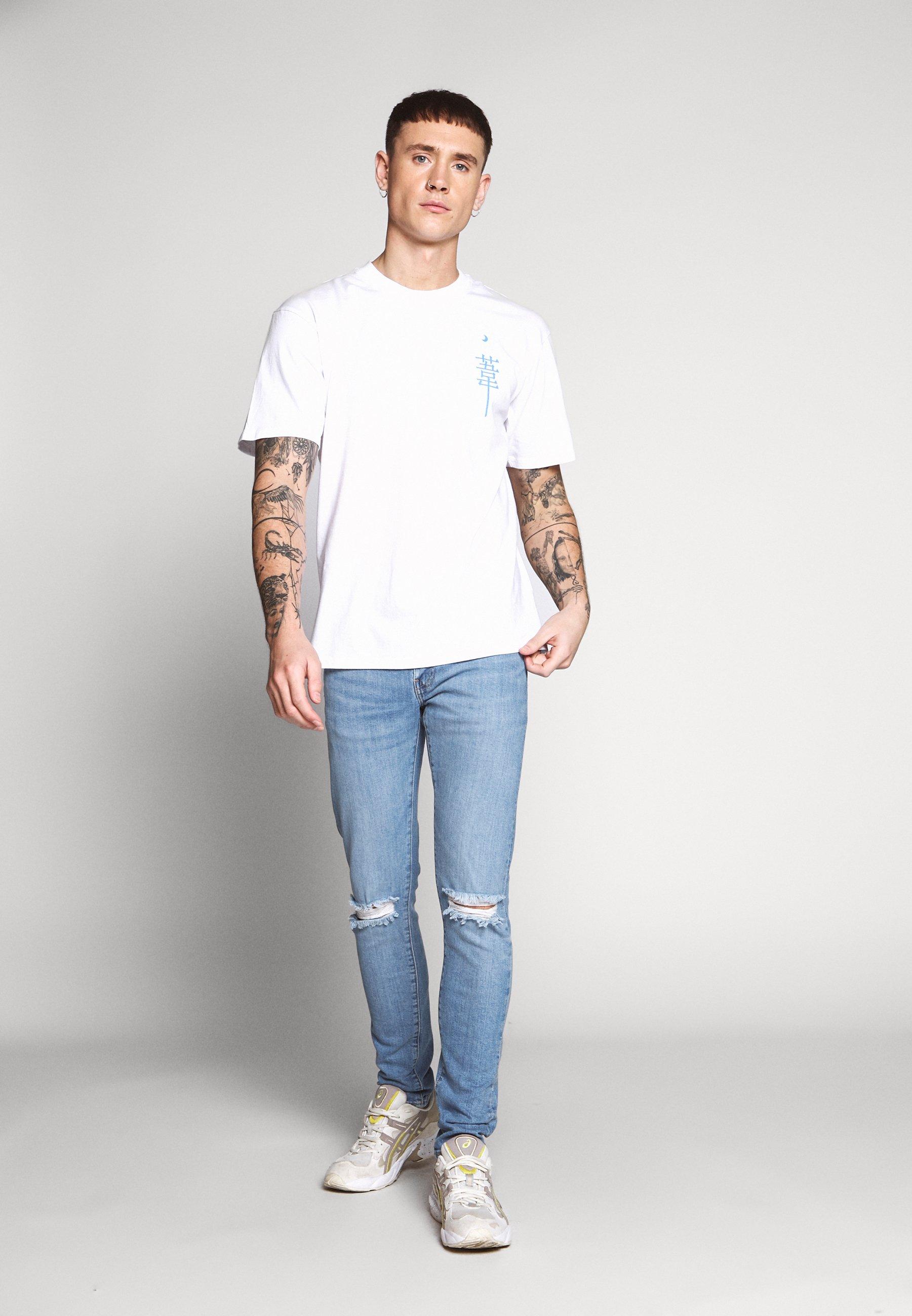 Edwin MANGETSU - T-shirt z nadrukiem - white