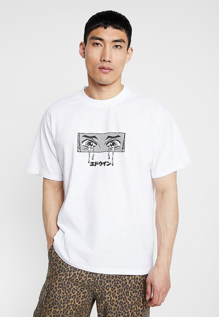 Edwin - SAD - T-shirts med print - white