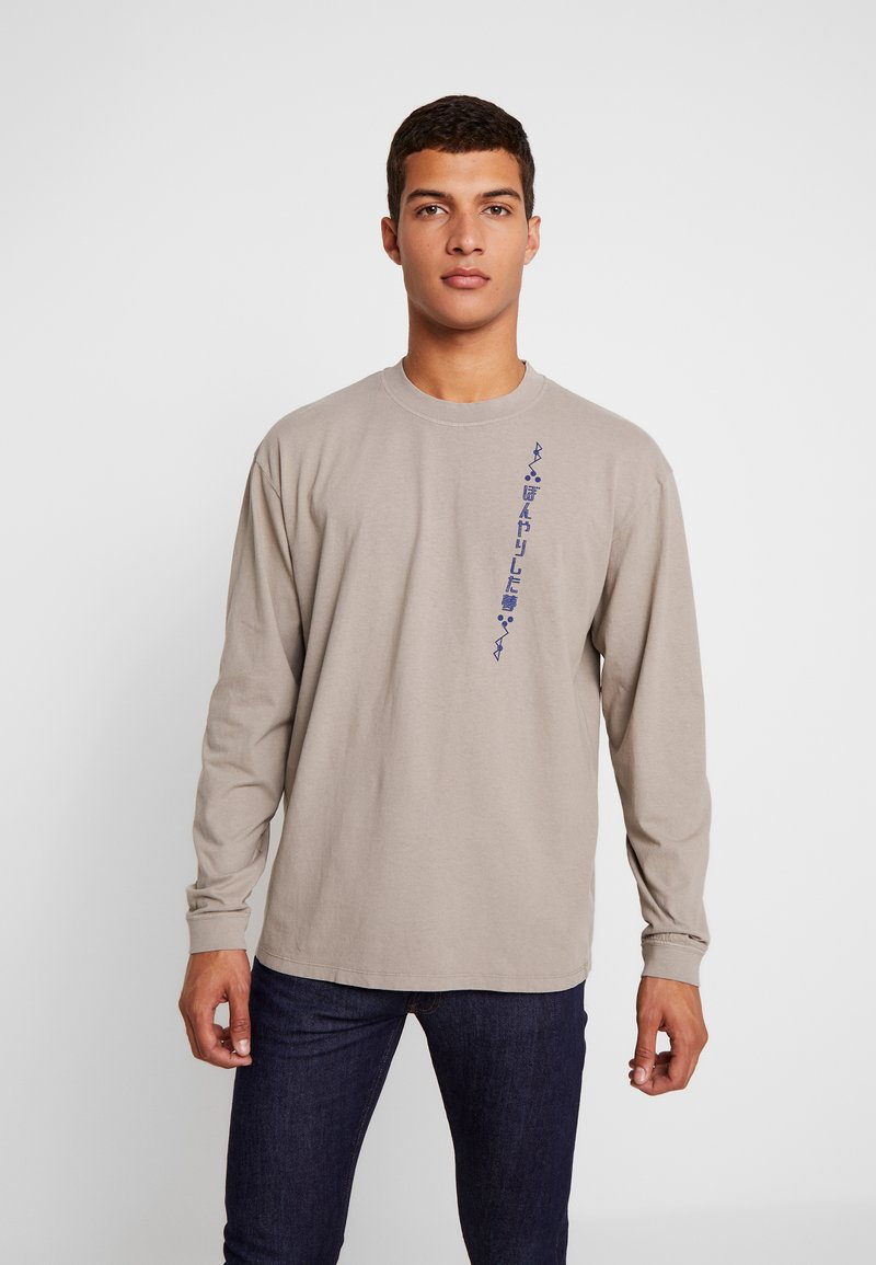 Edwin - HAZY DREAMS MOTTO - Langarmshirt - moon rock
