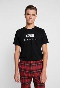 Edwin - JAPAN - T-shirt med print - black - 0