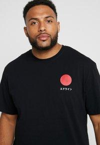 Edwin - JAPANESE SUN  - T-Shirt print - black - 4