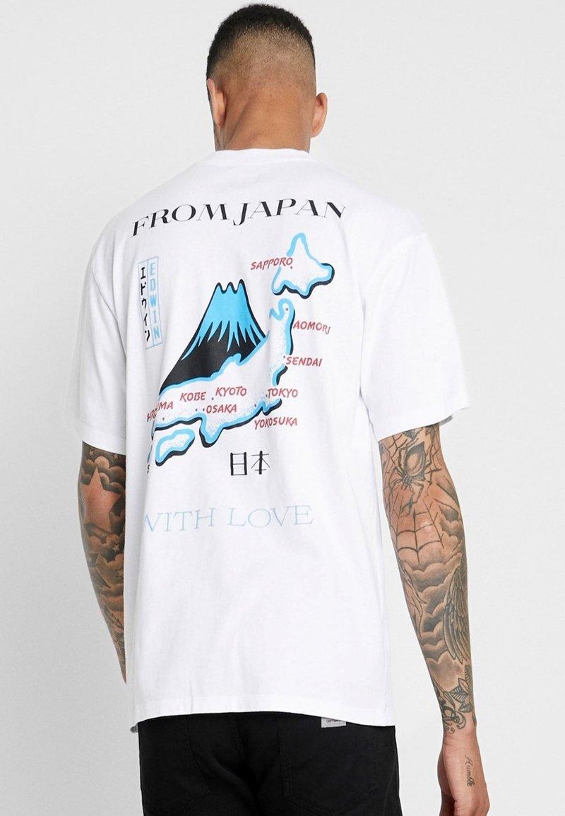 Edwin - SOUVENIR FROM JAPAN - Print T-shirt - white