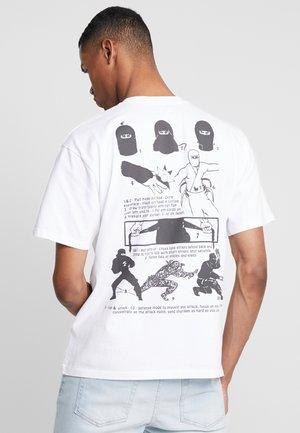 NINJA - T-Shirt print - white