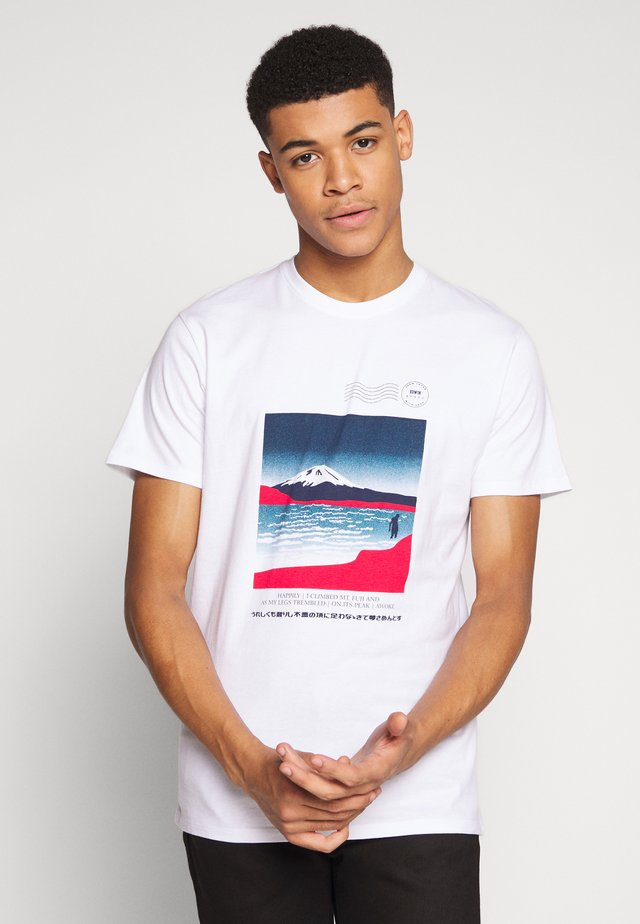 AWOKE - T-shirt med print - white